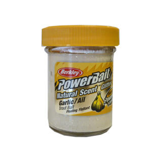 Berkley Power Bait Natural Scent Glitter 50 g, White Garlic