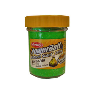 Berkley Power Bait Natural Scent Glitter 50 g, Spring Green Garlic