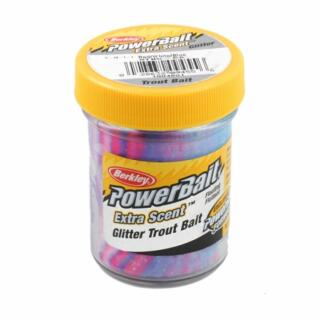 Berkley Power Bait Extra Scent Glitter 50 g, Red/White/Blue